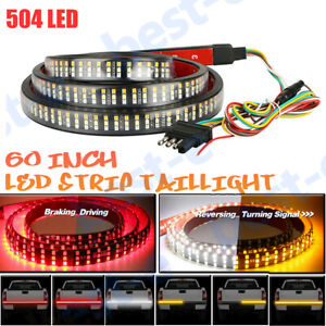 6 Modes 3 Row 60' 504 LED Truck Strip Tailgate Light Bar Reverse Brake Signal