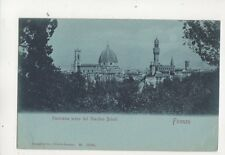 Firenze Panorama Giardini Boboli Italy Vintage U/B Postcard Stengel 389b