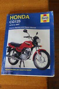 HONDA CG 125 1976 to 2007 Haynes Manual 0433 Motorcycle Workshop Guide
