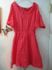 Hive & Honey  Orange V-neckline S/Sleeve Dress w/Embroidery  Size S -  New w/Tag