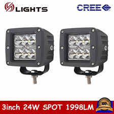 """2X 3""""inch 24W LED Work Light Spot Cube Pods Off-road Driving Boat Ford Truck ATV"""