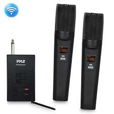 Pyle Dual Rechargeable Bluetooth UHF Wireless Microphone and Receiver System
