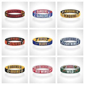 Reversible NHL Team Mascots Bracelet Elastic Stretch Bracelet NHL Wristband