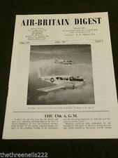April Air-Britain Digest Quarterly Magazines in English