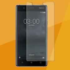3x Nokia 3 Lámina de vidrio blindado FOLIO PANZER HQ Auténtico Vidrio Lámina