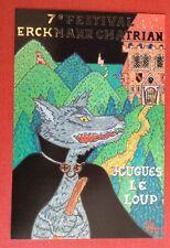 CPM. Illustrateur Patrick HAMM. 1992. Hugues le Loup. Festival Erckmann Chatrian