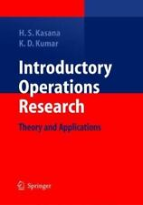 Introductory Operations Research : Theory and Applications by Harvir Singh...