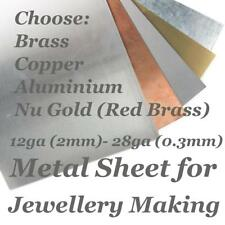Metal Stamping Embossing Blank Sheet Stamp Copper, Nu Gold Red Brass, Aluminium