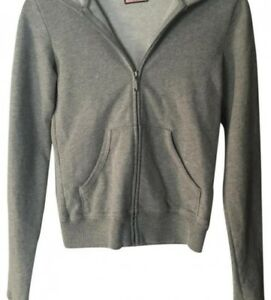Juicy Couture Gray, Pink, Yellow Petite Hoodie
