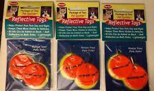 PET SPOTTER Reflective Tags DOGS & Cats 3 Pkgs/6 Tags NEW Day-GLO Bright Orange