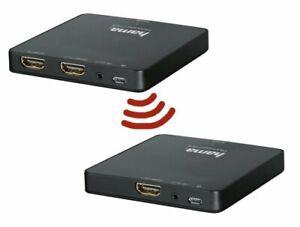 Hama HDMI Funkübertragung Set Wireless Funk Extender Full HD 1080p 30m 5 GHz 591