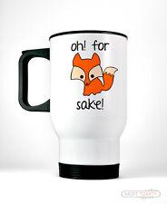 Oh For Fox Sake Travel Coffee Mug-Funny Stainless Steel Cup Cute Animal Humor