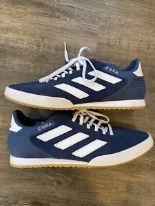 Adidas Copa Super Indoor Shoes Blue/White Suede Men's Size 11 Excellent