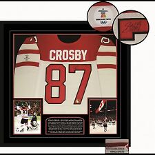 Sidney Crosby Team Canada Signed/ Framed Game Model White 2010 Olympic Jersey