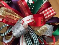 CHRISTMAS RIBBON BUNDLES 8 x 1M GIFT WRAPPING, WREATHS, DECORATIONS, CRAFTS