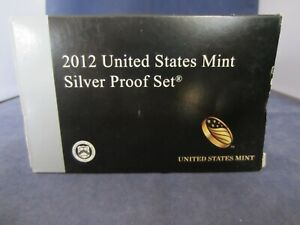 2012-S SILVER Proof Set  EMPTY BOX & COA ONLY - 1 ONE BOX