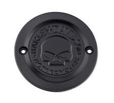 Harley points timer cover willie g skull black sportster xl iron 883 1200 custom