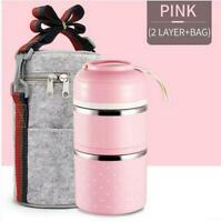 Thermal Insulated Thermos Lunch Box Picnic School Food Bento Storage Container