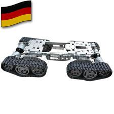 Samrt RC Tank Car Truck Robot Chassis CNC Alloy Body 4 Plastic Tracks 4 Motor DE
