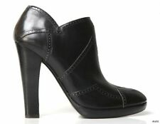 new $1630 ALAIA black leather zigzag platforms ANKLE BOOTS shoes 38 US 8 - HOT