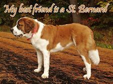St Bernards Dog Fridge Magnet, My Best Friend