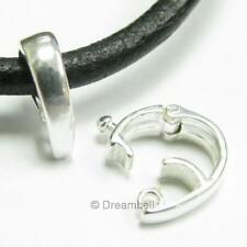 1 X Bright Sterling Silver Changeable Pendant Clasp Bail Slide SB224W