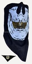 Cotton Bandana Skull Devil Print Motobike Costume Face Mask Cover Gold Teeth