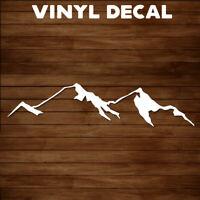 Mountain Decal Sticker Mountain Tops Range Vinyl Design