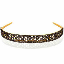 Estate Vintage 10.82cts Natural Pave Rose Cut Diamond Silver Hair Band Jewelry
