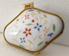 Chinese Porcelain jewelry box painted flowers Christmas gifts for your friends