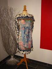 ELEGANTE ROBE TUNIQUE DRESS MAILLE COLORée SAVE THE QUEEN T XL 42 44 UK 14 16
