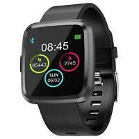 Smartwatch Full Touch Originale Noziroh IP67 Per iPhone Samsung iOS Android Nero