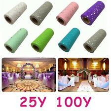 "6""x 100 Yards Sequins Tutu Tulle Rolls Spool Soft Wedding Decor Craft Fabric"