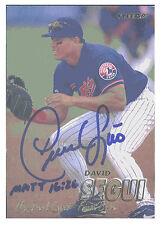 David Segui ~ 97 Fleer #387 ~ Signed Autographed Card ~ MLB NY Mets