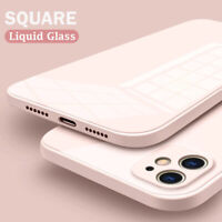 Square Liquid Tempered Glass Case Cover For iPhone 11 Pro Max XR XS MAX 7 8 Plus