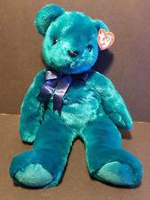 TY Beanie Buddies 2000 Teal Teddy Old Face Bear
