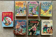Walt Disney Little Books Lot of 7 1960s-70s Mickey Donald Duck Goofy Pinocchio