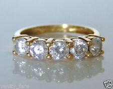 Beautiful QVC 18ct Gold Diamonique Ring Size K