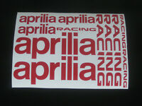 APRILIA Decals Stickers Motorbike Motorcycle Tank Fairing Helmet Wheels Printed