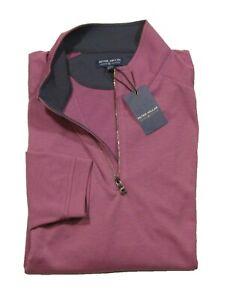 Peter Millar Men's Wildberry Purple Crown Crafted 1/4 Zip Pullover Shirt