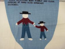 JOSEPH & ISAAC Doll Fabric Panel Cut Sew and Stuff Pattern Joan Kessler