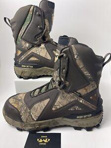 Red Wing Irish Setter Vaprtrek LS 827 Men's Size 9 E2 Camo Hunting Boots