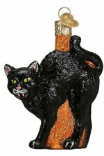 Old World Christmas Scaredy Cat Glass Blown Ornament