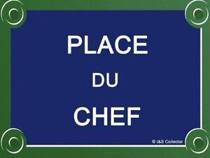 FRENCH VINTAGE METAL SIGN 20x15cm PLACE DU CHEF