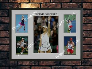 EUGENIE BOUCHARD SIGNED TENNIS LIMITED EDITION A4 PHOTO PRINT MEMORABILIA
