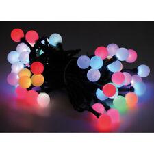 RGB Farbwechsel Lichterkette mit 50 LED Kugeln bunt Außen Innen Party Strom IP44