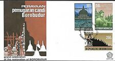 INDONESIA 1983 FIRST DAY COVER RESTORATION OF BOROBUDUR TEMPLE