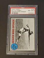 1970 Topps Tom Seaver #195 PSA 8 NLCS Game 1 Seaver Wins Opener Mets Gorgeous