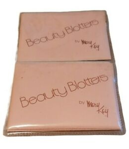 Vintage Beauty Blotters By Mary Kay Linen Blotting Paper