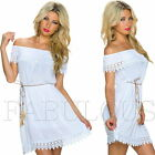 New Sexy European Off Bare Shoulder Dress Casual Summer Party Size 6 8 10 XS S M